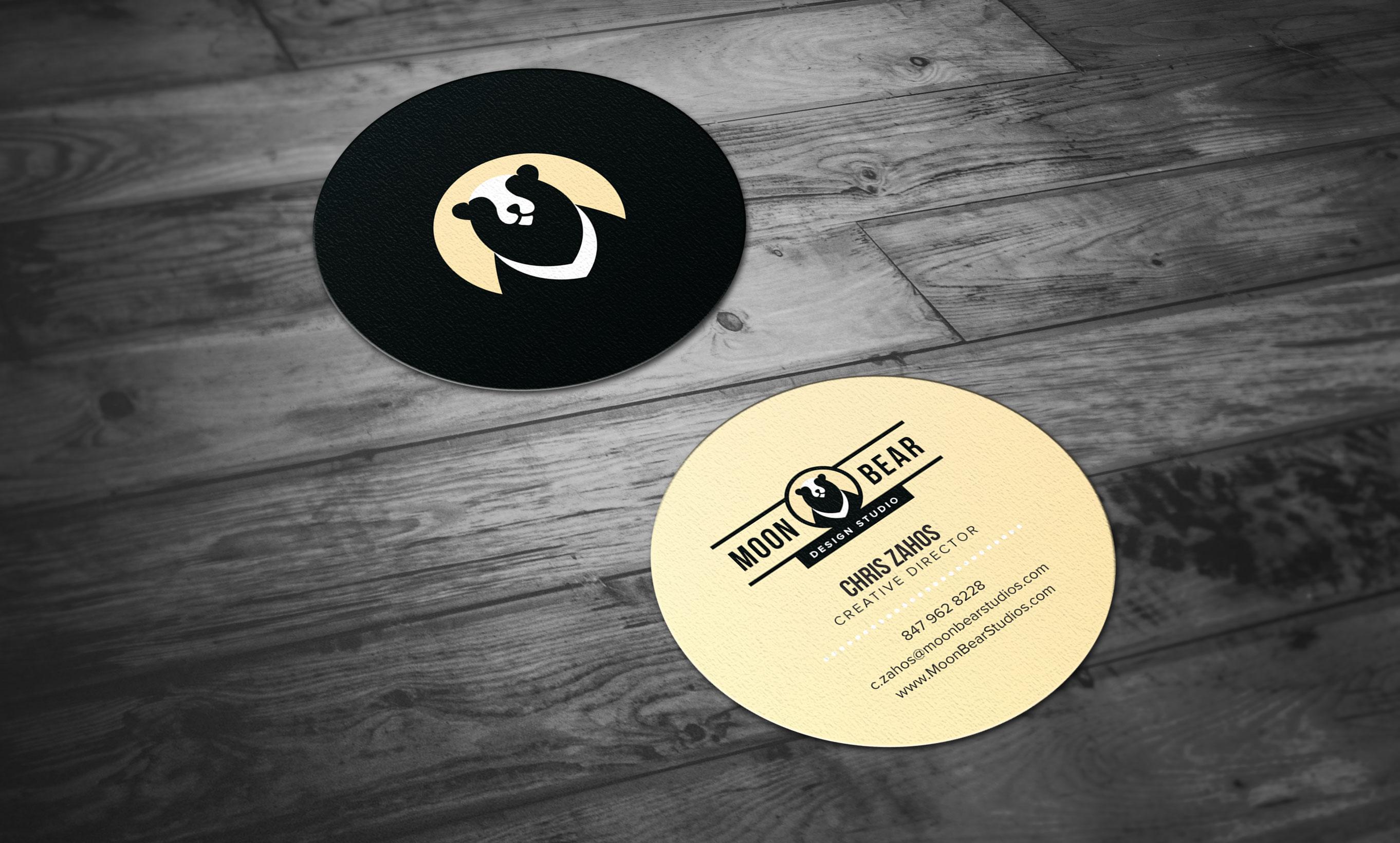 Cute moon business cards contemporary business card ideas etadam brand identity and responsive web design moon bear design studio colourmoves Images